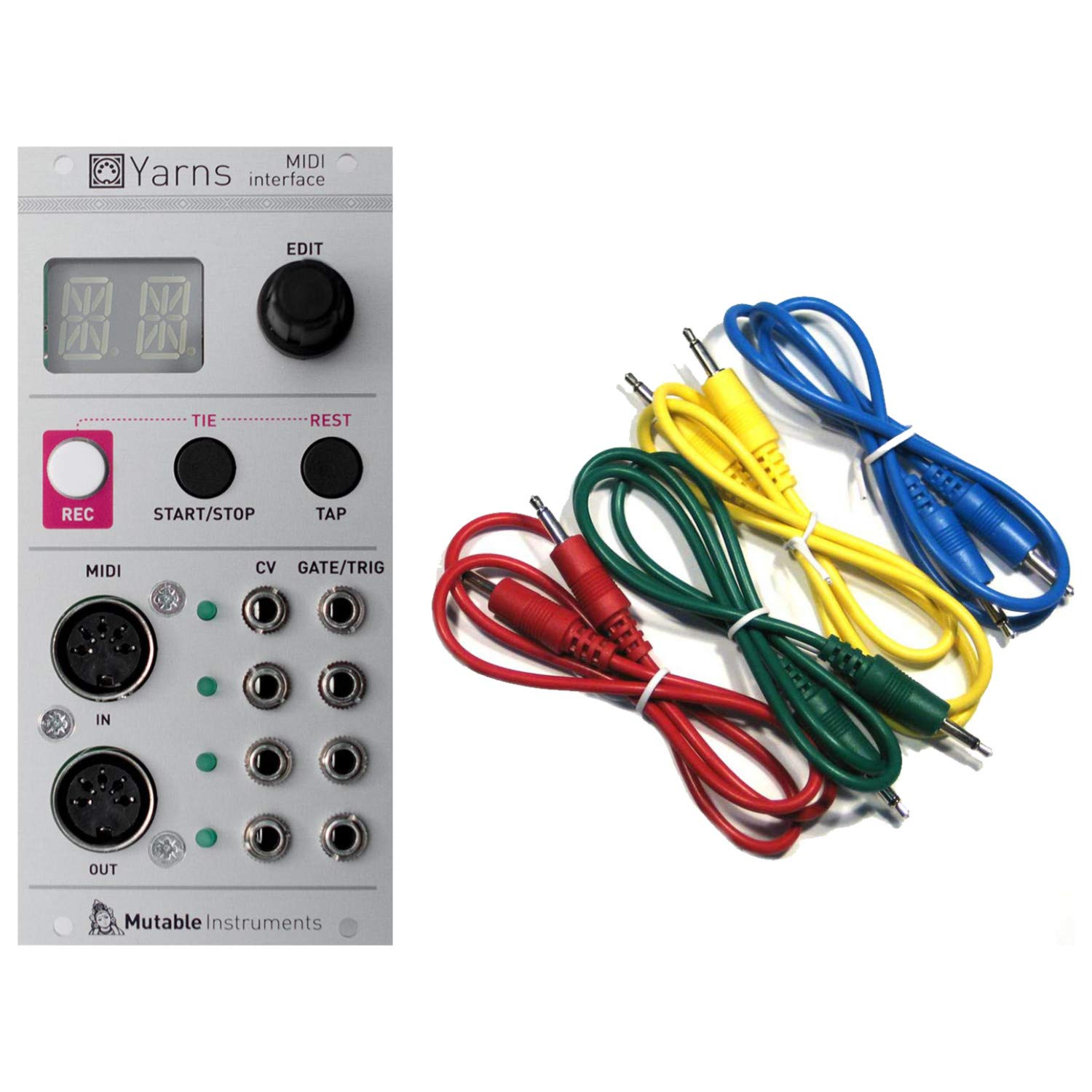 Mutable Instruments Yarns Midi to CV Interface and Sequencer Arpeggiator Eurorack Synth Module w/ 4 Cables