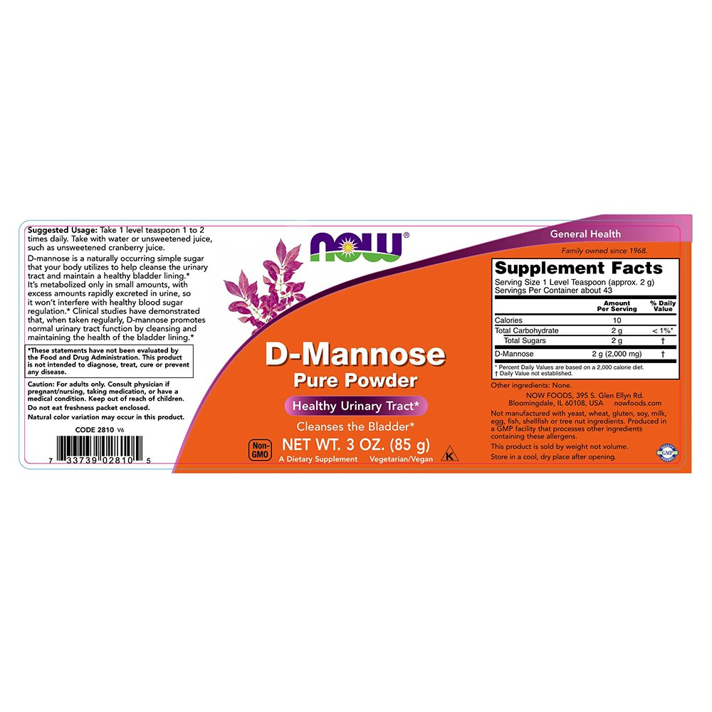NOW Foods 733739028105 D Mannose 3 Ounce Image 3