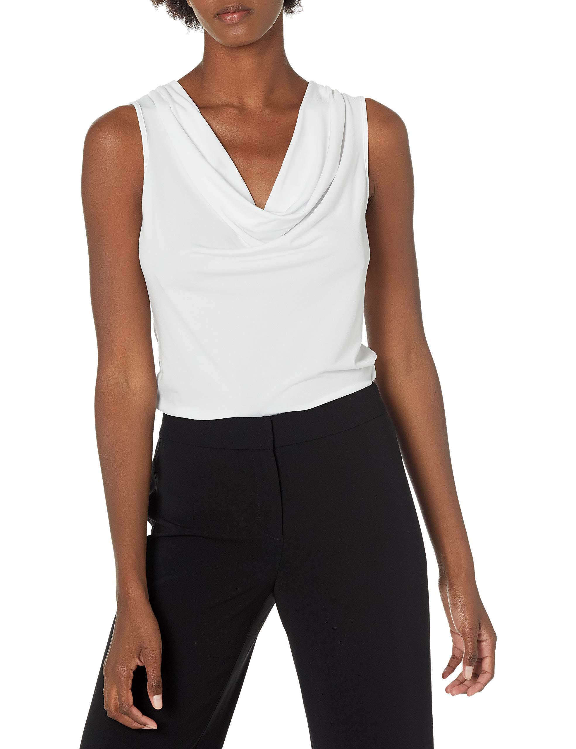 Calvin Klein Women's Cowl Neck Sleeveless Top (Regular and Plus Sizes)