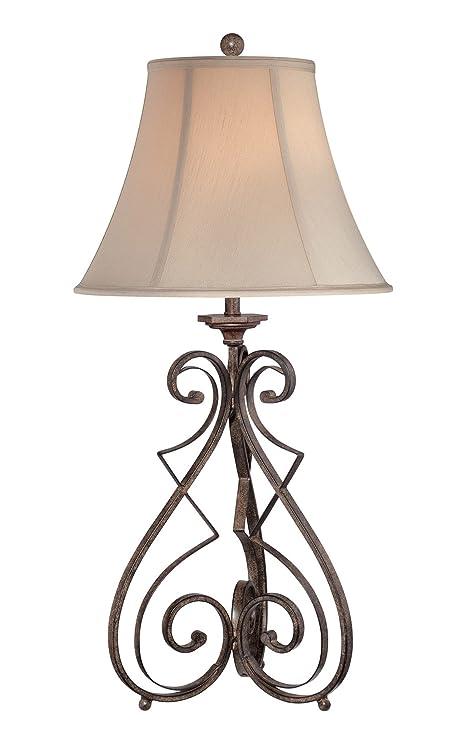 Amazon.com: Lite Fuente c41185 lámpara de mesa con luz Color ...