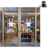 Malloom® Natale Vetrofanie Decorazione Decalcomania Della Home Decor Wallpaper adesivo da parete