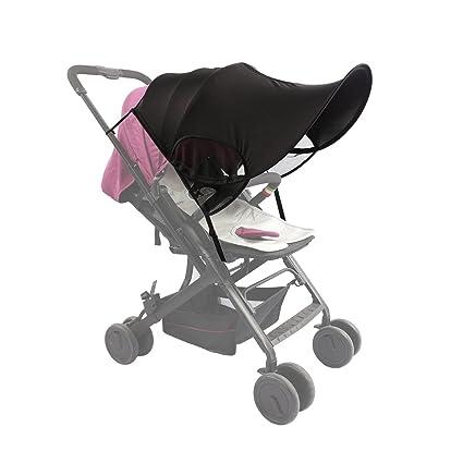 ZEEUPAI - Parasol protector contra sol toldo de material lycra sombrilla universal para silla de paseo cochecito carrito de bebé