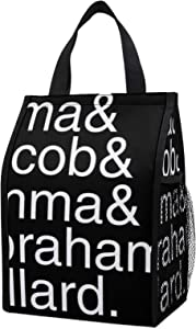 Character Names Miss Peregrine's Home For Peculiar Children White lunch tote bag is a large reusable picnic cold storage bag, a unisex adult food bag (9.1 6.7 12.6) feet