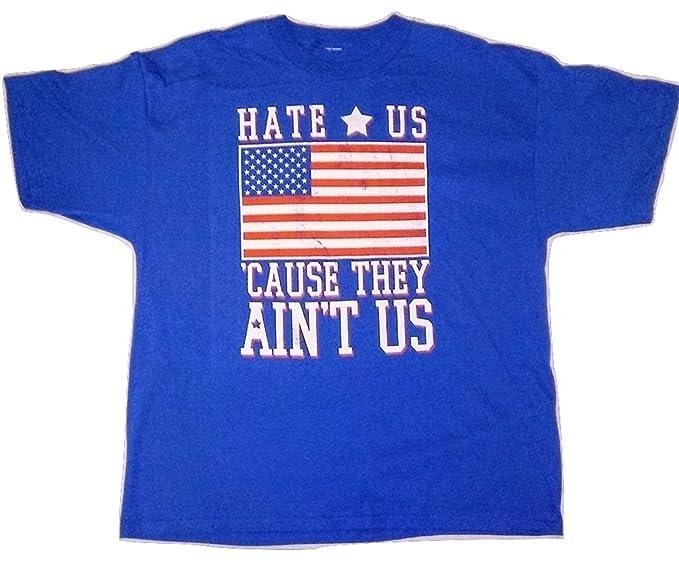 0e2d4609c Plus Size US Flag Graphic Custom T Shirts Blue | Amazon.com