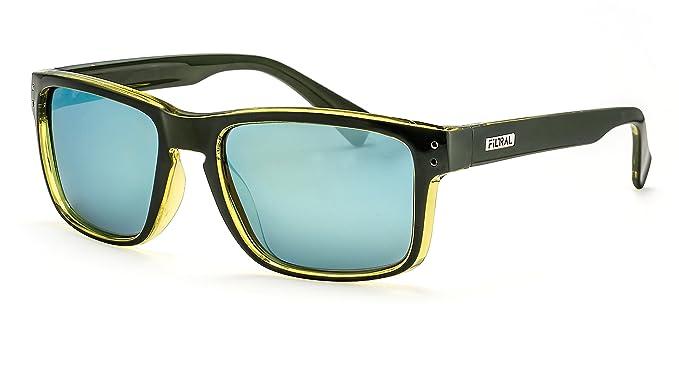 Filtral Flat-Top Herren Sonnenbrille / Eckige schwarze Sonnenbrille mit polarisierten Gläsern F3025108 T3R7MOXPwj