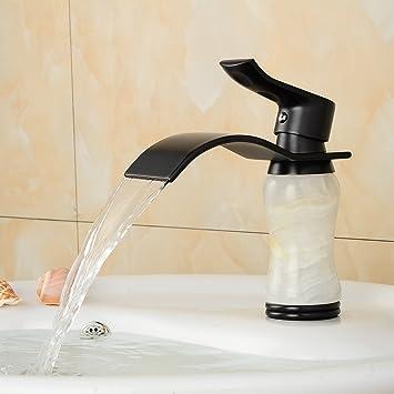 wymbs accesorios para muebles creativo decoración baño europeo moderno blanco Jade Negro Cobre Cade Mix caliente y agua fría: Amazon.es: Hogar