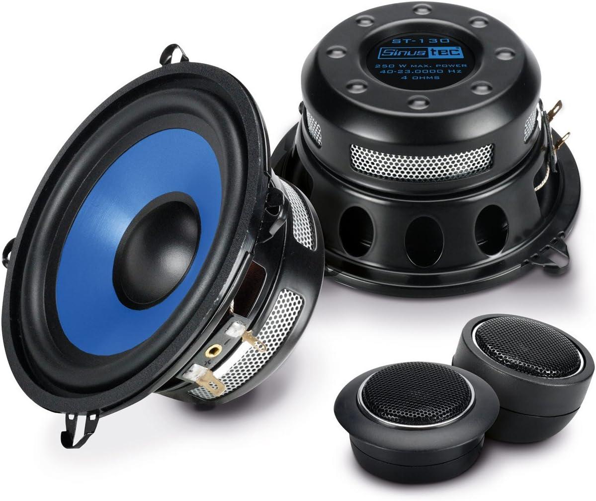 Sinuslive ST-130 Alrededor De 2 vías Altavoz Audio - Altavoces para Coche (De 2 vías, 4 Ω, 88 dB, 40-23000 Hz, 5,9 cm, 13 cm)