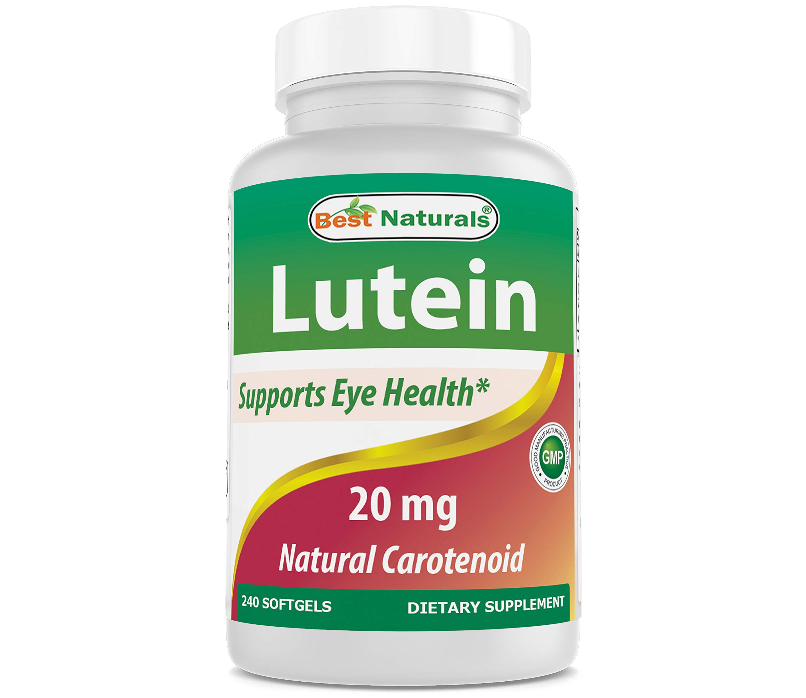 Best Naturals Lutein 20mg with Zeaxanthin, 240 Count by Best Naturals