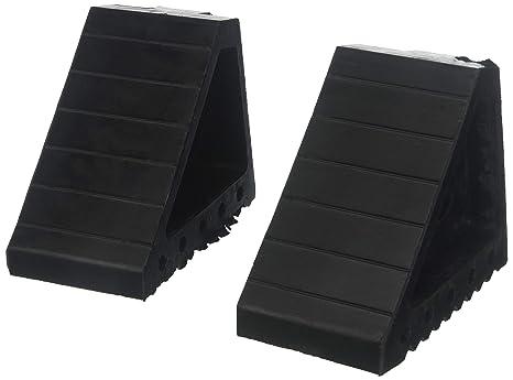 Bunkerwall (Un par) calzo de rueda Bloques-Heavy Duty de goma Negro-