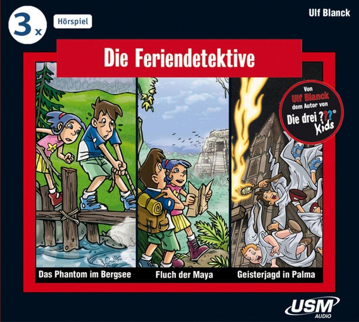 Die Feriendetektive 3-er Hörbox 1: 1. Das Phantom im Bergsee; 2. Fluch der Maya; 3. Geisterjagd in Palma