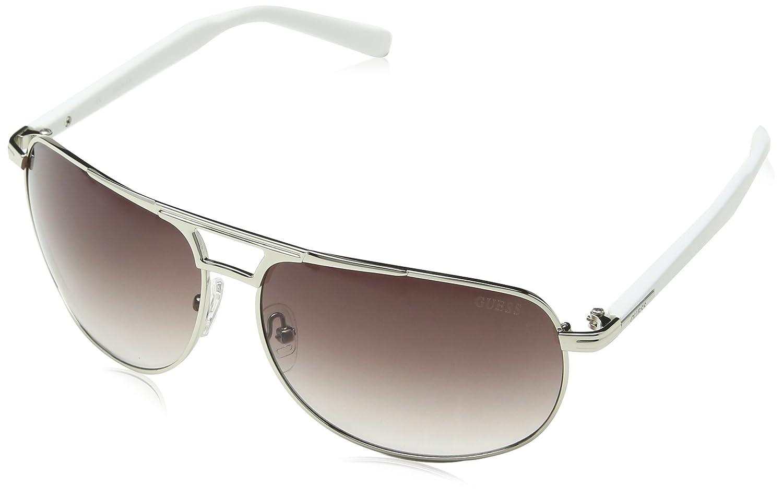 Guess Guf125Si-3564 Gafas de sol, Plateado, 64 para Hombre