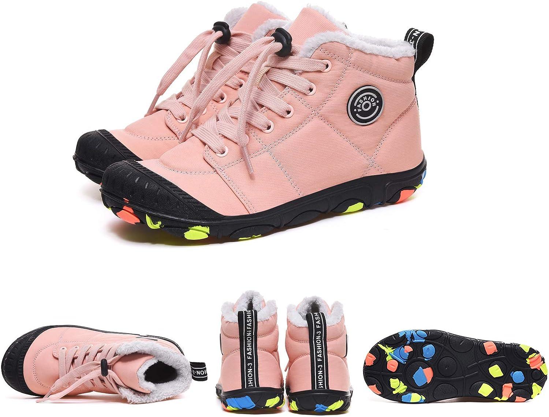 Veluckin Botas de Nieve Ni/ños Botas de Invierno Botas de Calentamiento de Piel Botas de Tobillo Zapatos