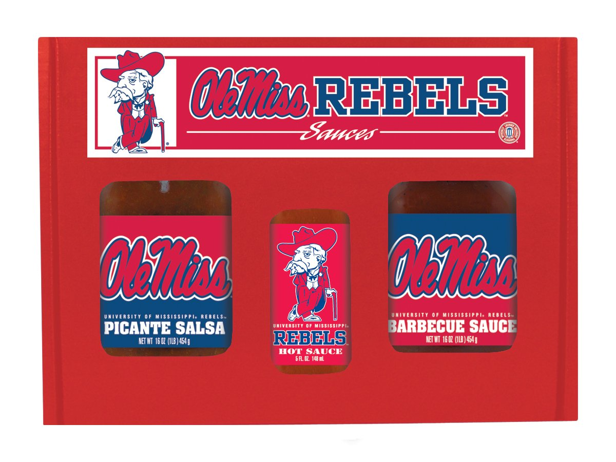 Hot Sauce Harrys 6247 MISSISSIPPI - Ole Miss - Rebels TailGate Hot Sauce BBQ Salsa