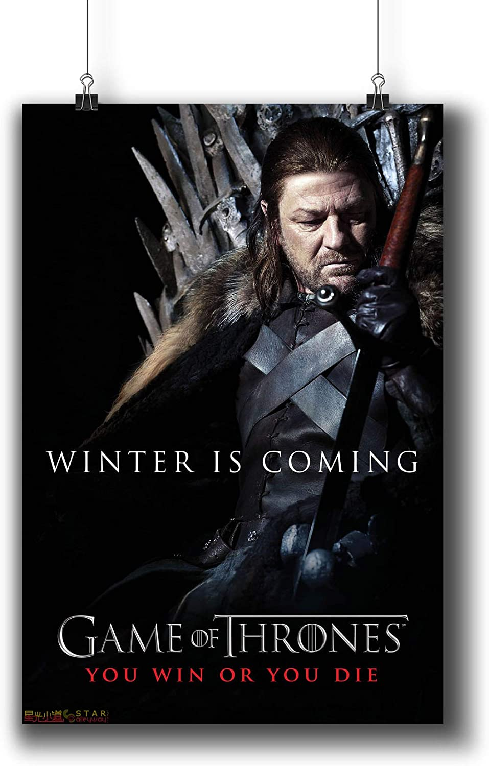 Game of Thrones TV Series Poster Small Prints 694-105 Ned Eddard Stark,Wall Art Decor for Dorm Bedroom Living Room (A4 8x12inch 21x29cm)