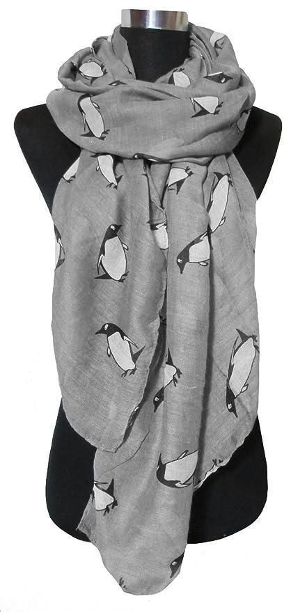 dff24579d86b Belle petite voile pingouin dessin animé animaux foulards imprimés châle  foulards  Amazon.fr  Bricolage