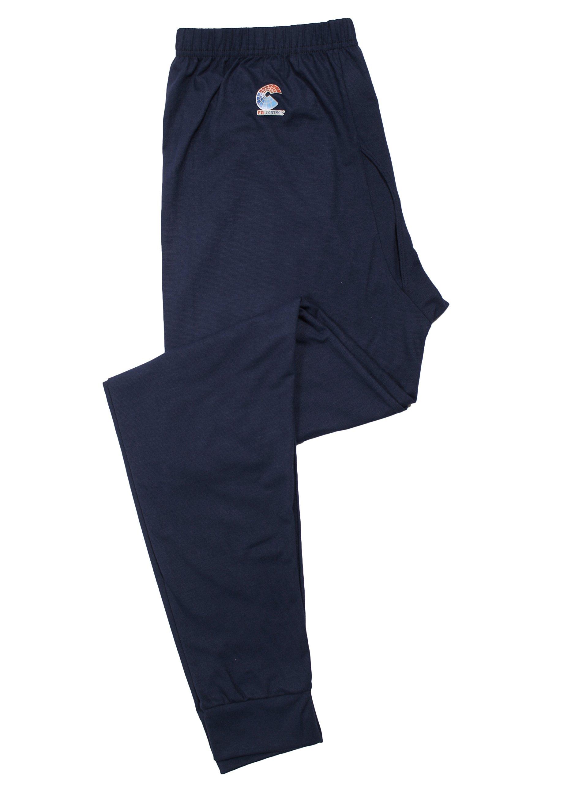 National Safety Apparel U52FKSRXL FR Control 2.0 Long Underwear Bottoms, Modacrylic Blend, X-Large, Navy
