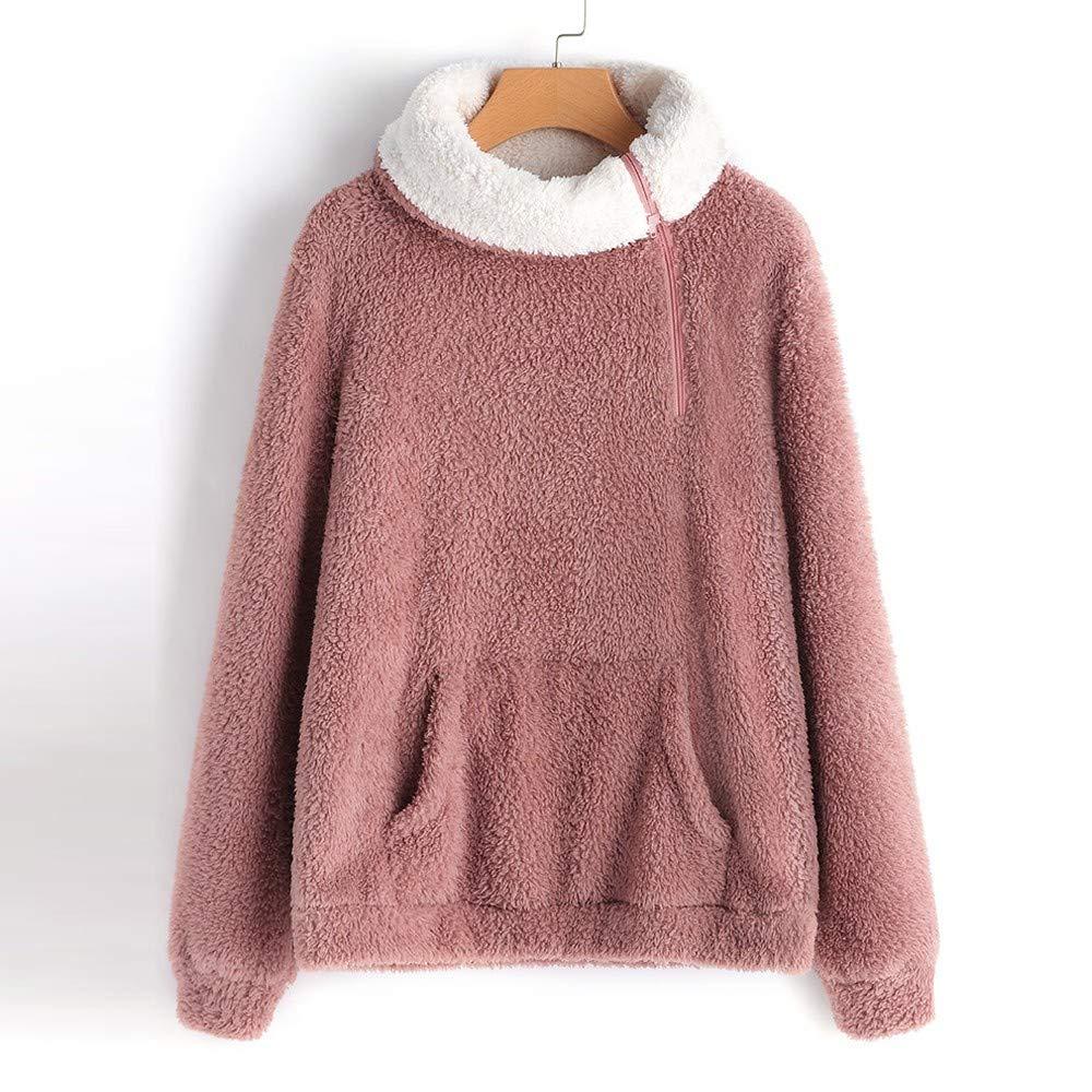 K-youth Suéter de Color sólido con Cuello Alto y Cremallera Blusas para Mujer Elegantes Tops Camisetas: Amazon.es: Ropa y accesorios