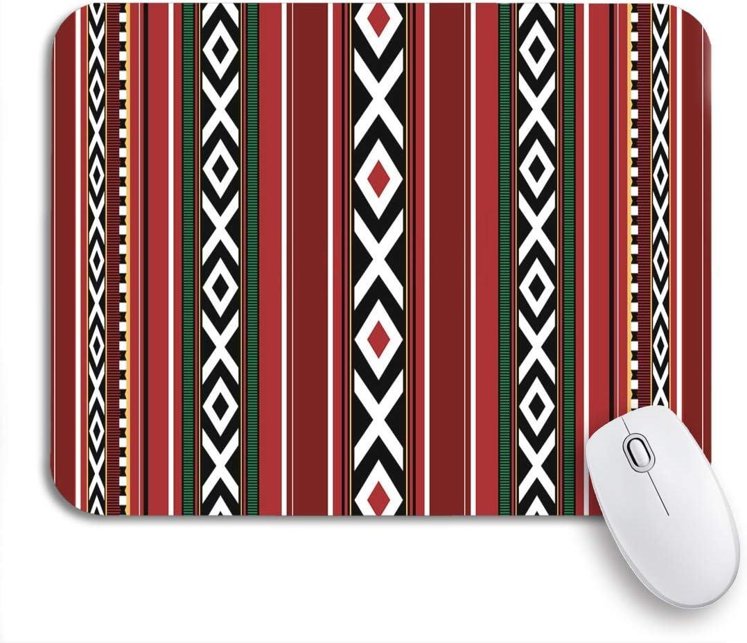 MATEKULI Alfombrilla de ratón,Patrón Rojo Detallado Tradicional Sadu UAE Qatar Beduino Herencia,Goma Antideslizante Rectangular para Escritorio,portátil,Oficina,Trabajo,9.5