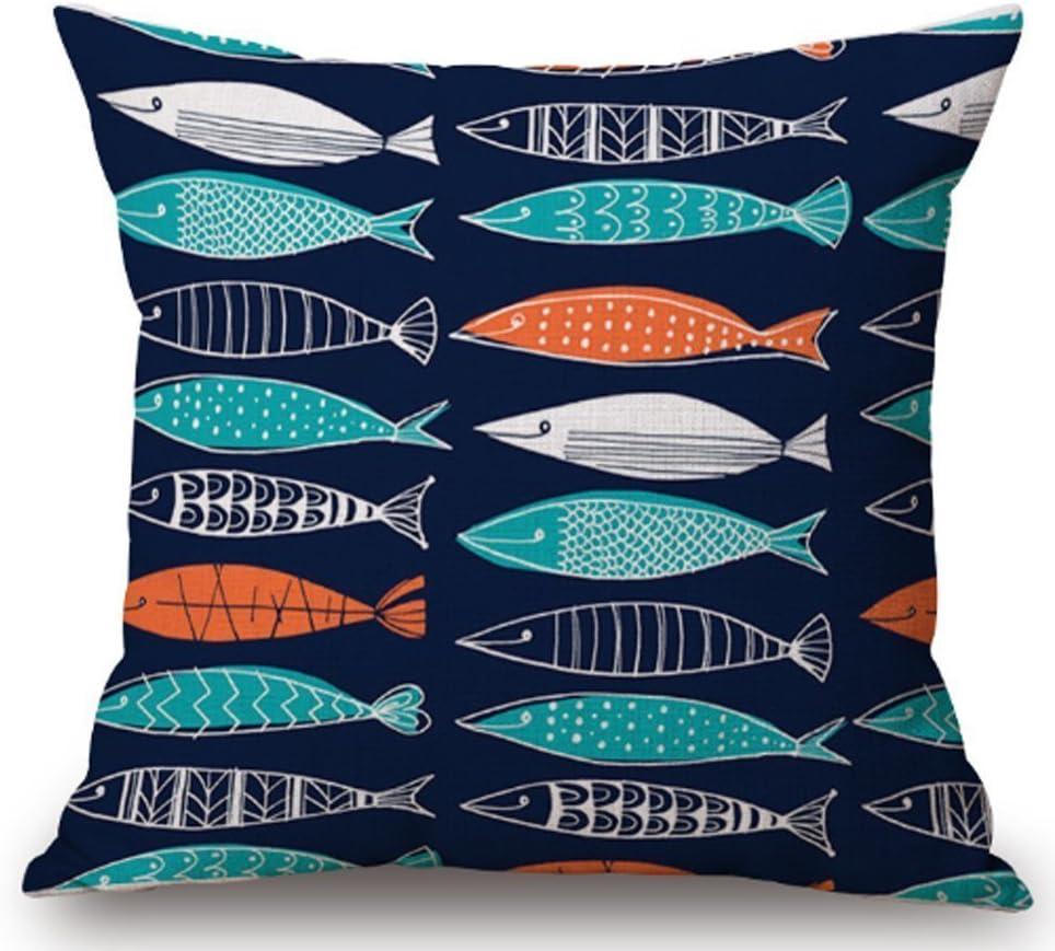 Amazon Com Tropical Fish Ornamental Fish Linen Square Throw Pillow Case Decorative Cushion Cover Pillowcase Sofa 18 X 18 2 Home Kitchen