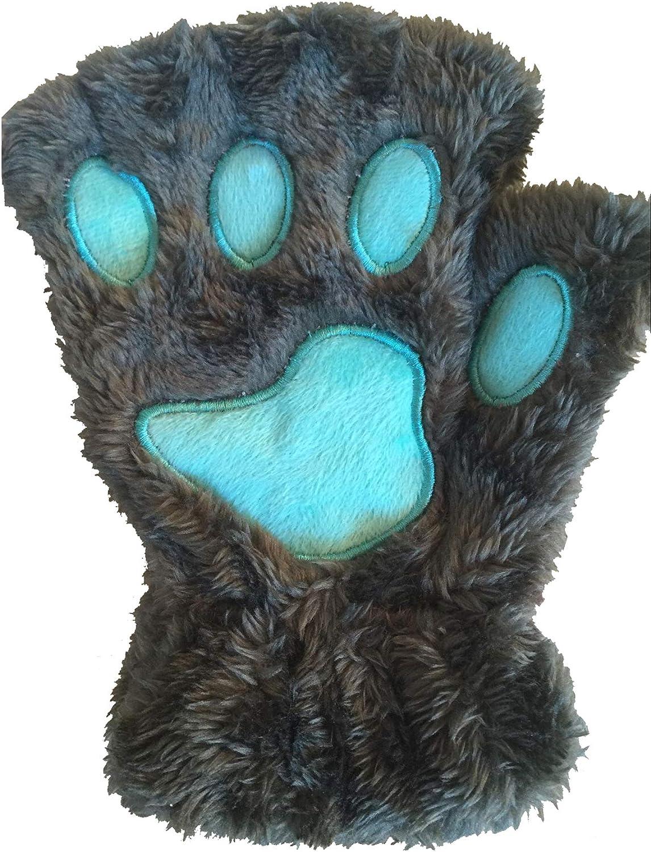 Winday Women Bear Plush Cat Paw Claw Glove Soft Winter Gloves