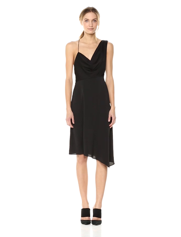 Keepsake The Label Womens Sidelines Midi Dress, Black, L at Amazon Womens Clothing store: