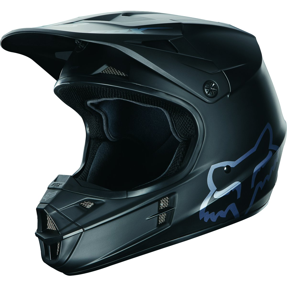 2018 Fox Racing V1 Matte Black Helmet (L) by Fox