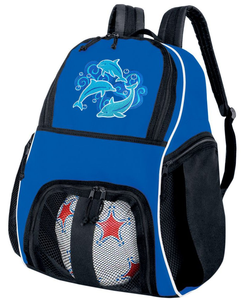 DolphinサッカーボールバックパックDolphinsバレーボールバッグ旅行Practice B00876B6U2