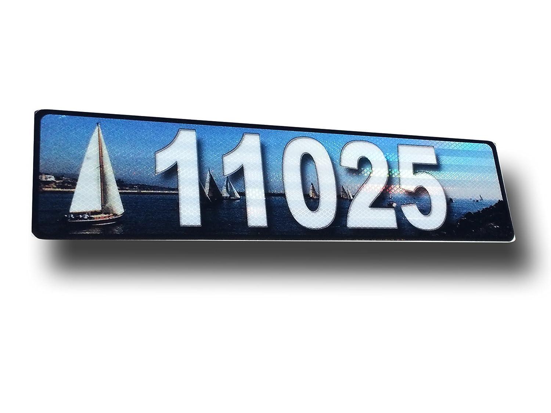ヨット、縁石、メールボックス、家アドレスPlaque、反射 B00XFO13RW