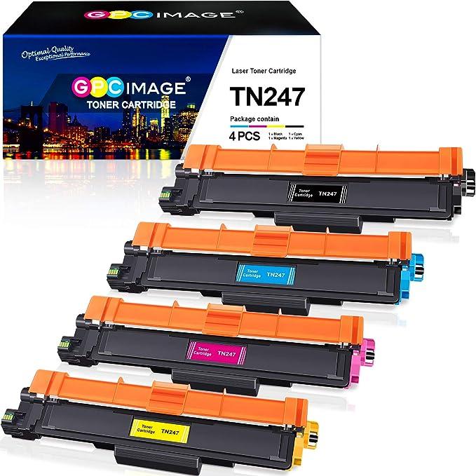 GPC Image TN247 TN243 Toner Cartridges Compatible with Brother TN-247 TN-243 for L3210CW L3550CDW L3750CDW L3230CDW L3770CDW L3270CDW L3510CDW L3710CW L3730CDN (Black/Cyan/Magenta) a/Yellow, Pack of 4): Amazon.de: Bürobedarf & Schreibwaren