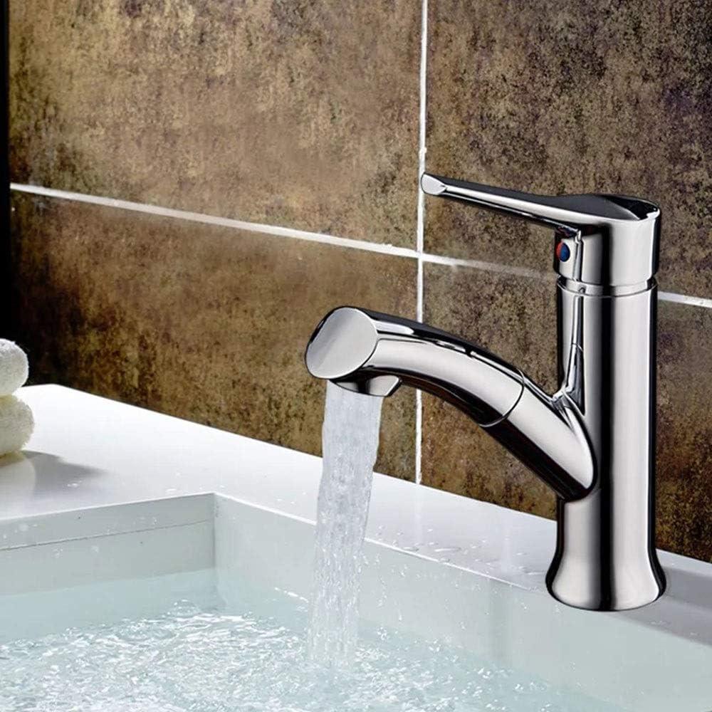 新銅浴室用キャビネット洗面台シングルホール風呂キャビネットシングルプル蛇口ホット/コールド 防錆・防錆