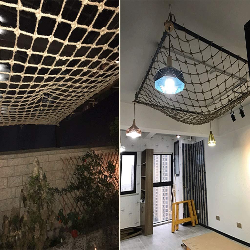 Karaoke Retro Rope Creative Decoration bar Fish net CANQUANWANG Hemp Rope mesh Decoration net Ceiling net Size : 11m 3.3ft3.3ft Size 36m