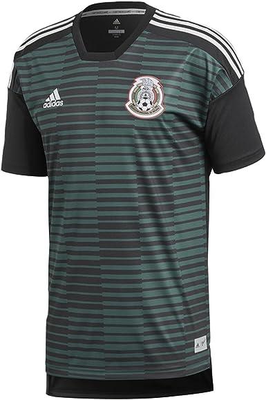 A bordo burlarse de paridad  Amazon.com: adidas Mexico Men's Home Pre-Match Jersey World Cup 2018 (L):  Clothing