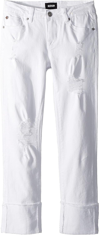 8596e6ff9a Hudson Kids Girl's Jessa Skinny Roll Cuff Crop In White (Big Kids ...