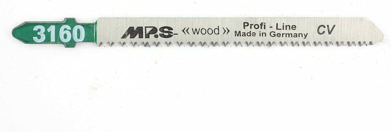 5 MPS Stichs/ägebl/ätter f/ür Holz splitterfreier Schnitt 2,0//100mm