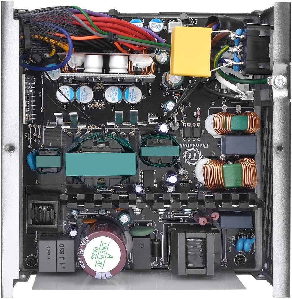 Thermaltake Smart BX1 650W Bronze SLI//Crossfire Ready Continuous Power ATX12V V2.3// EPS V2.92 80 Plus Bronze Certified 5 Year Warranty Non Modular Power Supply PS-SPD-0650NNFABU-1