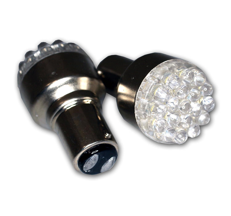 TuningPros LEDPL-1157-B19 Parking Light LED Light Bulbs 1157, 19 LED Blue 2-pc Set