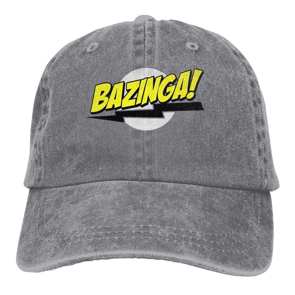 U-Only Bazinga Big Bang Theory T-Shirt Cowboy Visor Rear Cap Adjustable Cap