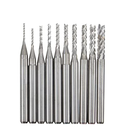 Tools Xcan 10pcs Soild Carbide Cutter Rotary Burr Set Cnc Engraving Bit Wood Milling Burr File Set Wood Router Drill Bit Dremel Rotary