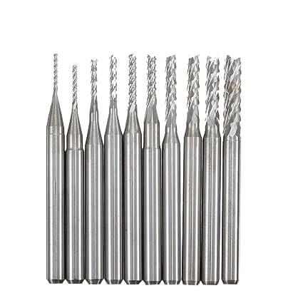 Tools Xcan 10pcs Soild Carbide Cutter Rotary Burr Set Cnc Engraving Bit Wood Milling Burr File Set Wood Router Drill Bit Dremel Rotary