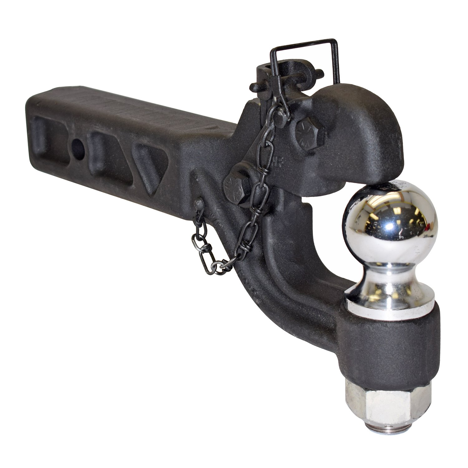 Made In U.S.A. 2-1//2 Inch Receiver Mounted Combination Pintle Hook With 2 Inch Ball