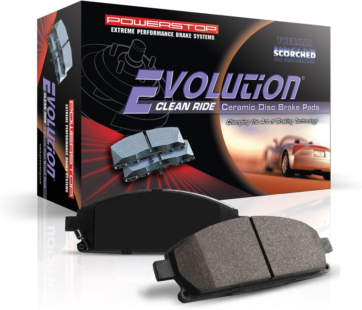 Power Stop 16-1989 Z16 Evolution Rear Ceramic Brake Pads