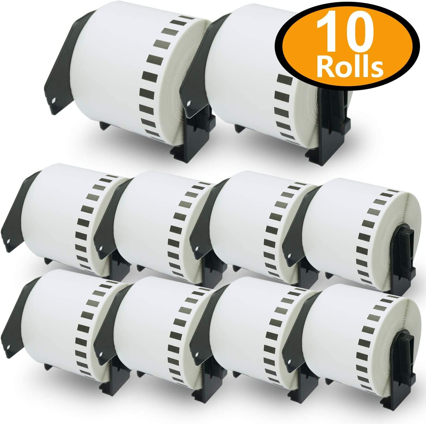 8 x Label for Brother DK-22205 Continuous 62mm x 30.48m QL 500 570 1050 700