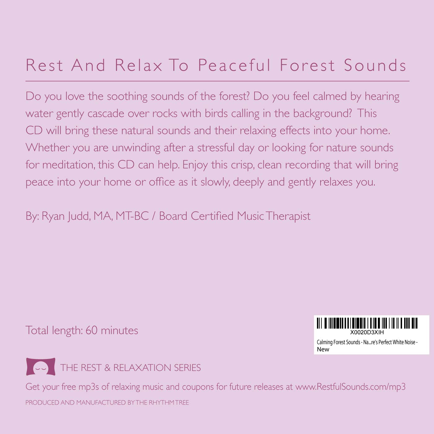 Calming Forest Sounds - Nature Sounds Recording - For Meditation,  Relaxation and Creating a Soothing Atmosphere - Nature's Perfect White  Noise - CD,