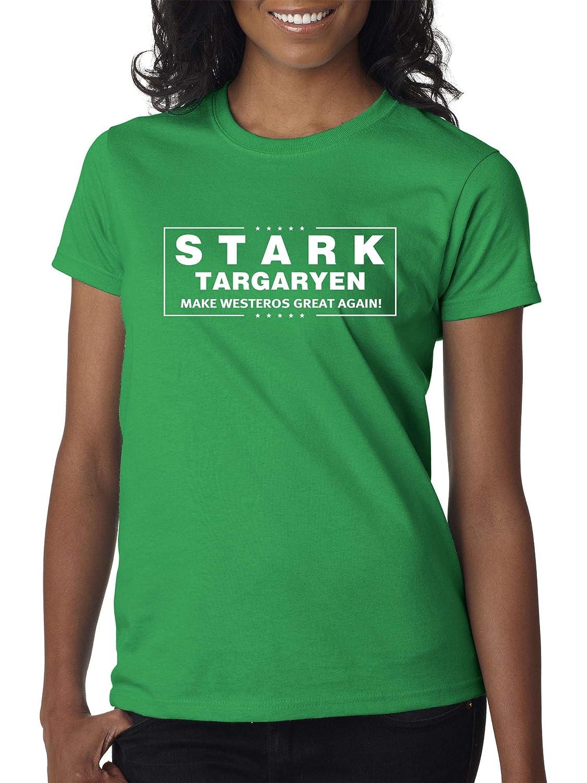 Kelly Green Trendy USA 775  Women's TShirt Stark Targaryen Game of Thrones Election