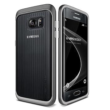 Funda Carcasa VRS Design - Triple Mixx para Samsung Galaxy S7 Edge | Estuche Doble Antichoque Transparente + Bumper en Plata
