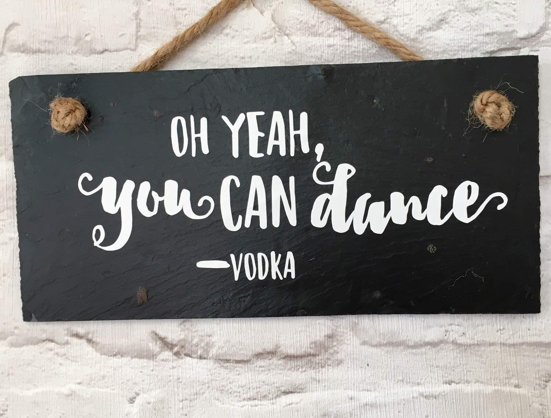 SIGNS Vodka - Cartel de Pizarra con Cita en inglés Vodka ...