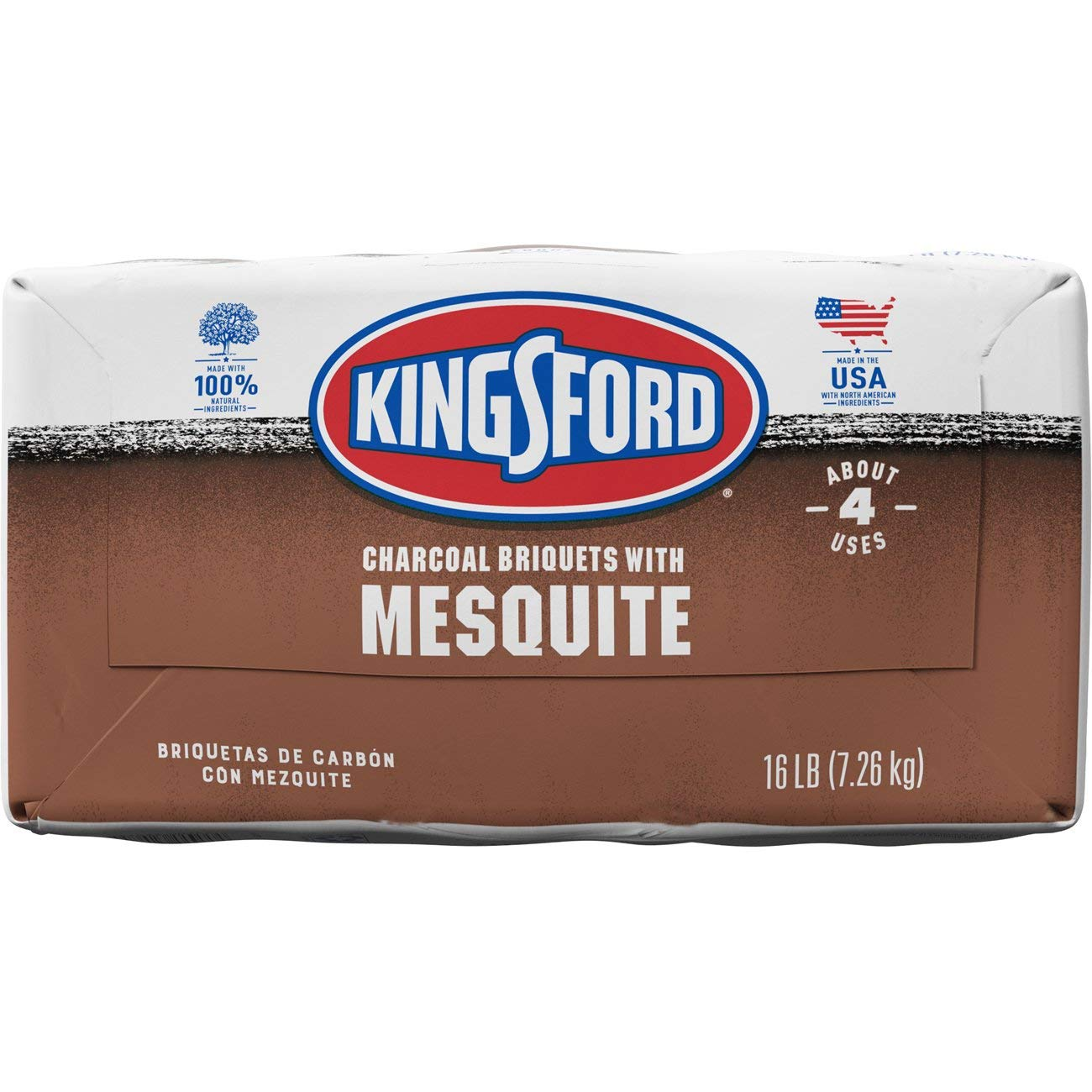 Kingsford Original Charcoal Briquettes with Mesquite 16 Pounds BBQ Charcoal for Grilling