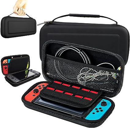 Funda para Nintendo Switch, Estuche de Transporte con más Espacio de Almacenamiento para 10 Juegos, Oficial Adaptador de AC y Otros Accesorios Nintendo Switch: Amazon.es: Electrónica