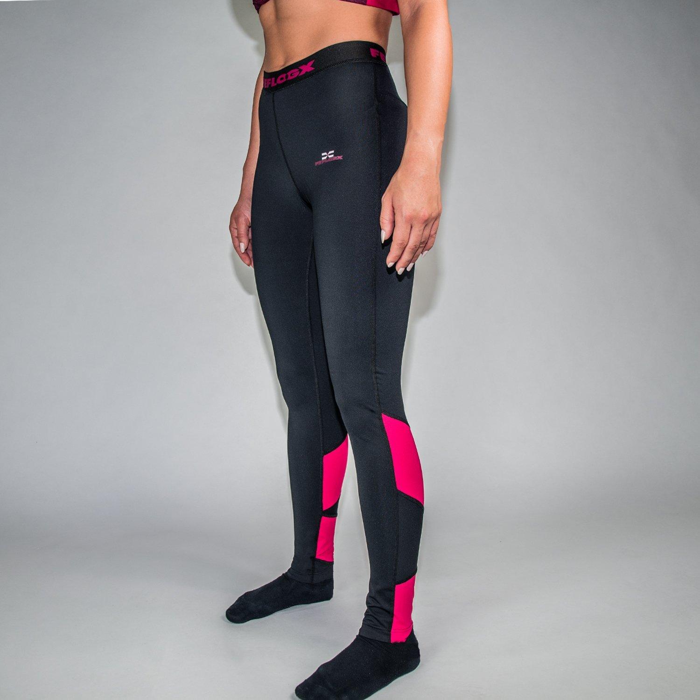 f30eaa86867e8d Feflogx Sportswear lange Damen Leggings Motion   Hochwertige Frauen Sport- Tights mit Kompression   Perfekt für Fitness & Joggen   drinnen & draußen:  ...