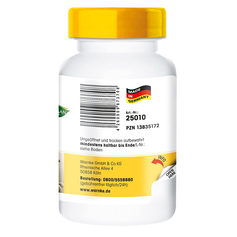 L-triptófano 500mg - 100 cápsulas veganas – productos para la salud Warnke